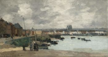 The Quay of Dieppe After the Rain 1882 | Albert Lebourg | oil painting