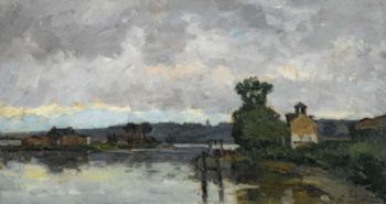 The Seine at Canteleau ain Summer 1882 | Albert Lebourg | oil painting