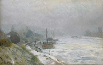 The Seine in Winter 1899 | Albert Lebourg | oil painting
