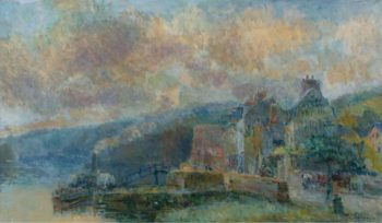 The Streamboat at Croisset | Albert Lebourg | oil painting