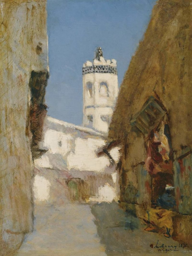 The Street of Blondeurs at Alger 1876   Albert Lebourg   oil painting