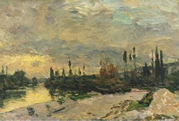 The Sunset at the Seine near Vetheuil | Albert Lebourg | oil painting