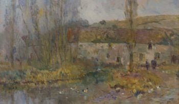 The Watermill in Normandie | Albert Lebourg | oil painting