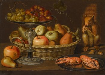 Still life with a squirrel | Clara Peeters | oil painting
