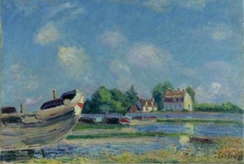 Boats on Repair at Saint Mammes 1880 | Alfred Sisley | oil painting