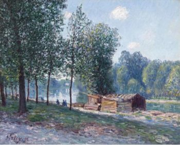 Cabins at the Bank of Loing Morning Effect 1896 | Alfred Sisley | oil painting