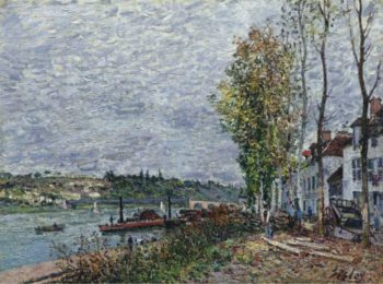 Foggy Day at Saint Mammes 1880 | Alfred Sisley | oil painting