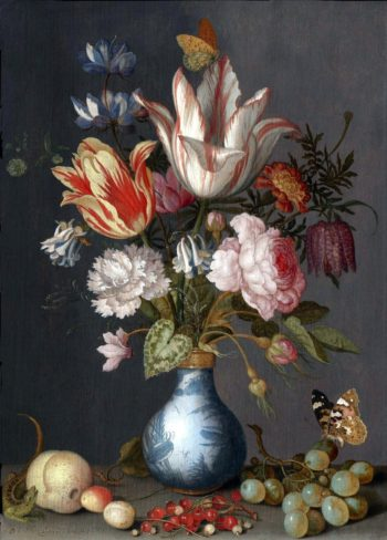 Bouquet of flowers in a Chinese vase | Balthasar van der Ast | oil painting