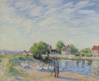 Geese at Saint Mammes | Alfred Sisley | oil painting