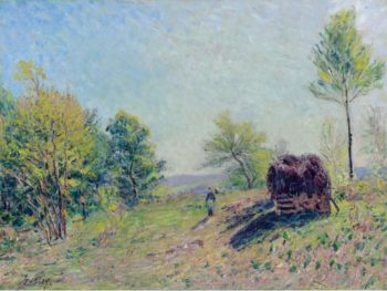 Going to the Forest in Spring 1886 | Alfred Sisley | oil painting