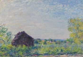 Landscape with the Stack of Firewood 1877 | Alfred Sisley | oil painting