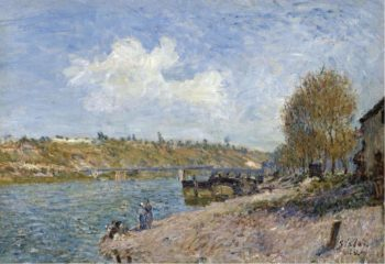 Laundresses at the River Bank 1884 | Alfred Sisley | oil painting