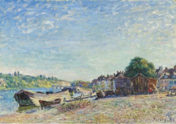 The Banks of Loing at Saint Mammes 1885   Alfred Sisley   oil painting