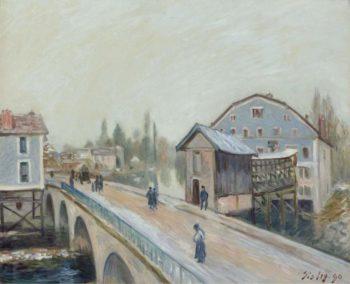 The Bridge of Moret 1890 | Alfred Sisley | oil painting