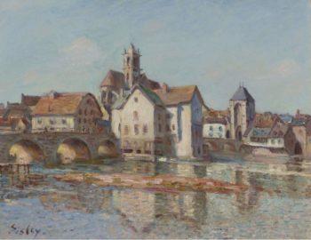The Bridge of Moret 1892 | Alfred Sisley | oil painting