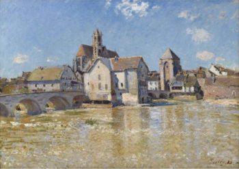 The Bridge of Moret April Morning 1888 | Alfred Sisley | oil painting