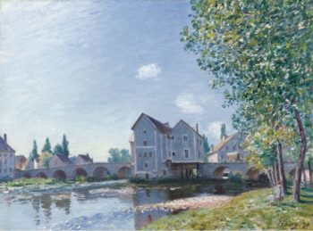 The Bridge of Moret Morning Effect 1891 | Alfred Sisley | oil painting
