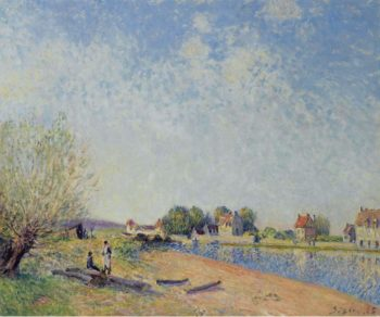 The Channel of Loing at Saint Mammes 1885 | Alfred Sisley | oil painting