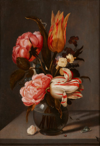Bouquet of flowers in a glass vase | Ambrosius Bosschaert the Elder | oil painting