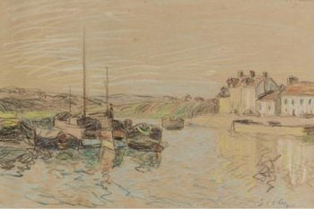 The Channel of Loing at Saint Mammes 1888 | Alfred Sisley | oil painting