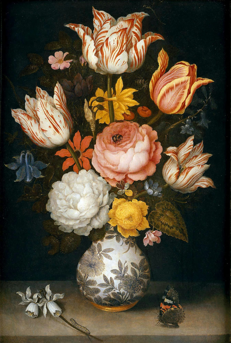 Bouquet of flowers in a Chinese vase | Ambrosius Bosschaert the Elder | oil painting