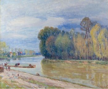 The Channel of Loing in Spring | Alfred Sisley | oil painting