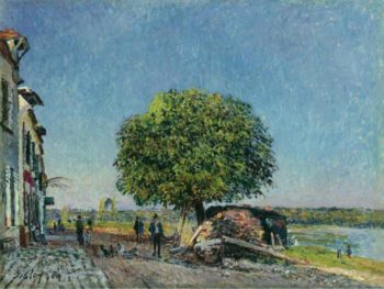 The Chestnut Tree at Saint Mammes 1880 | Alfred Sisley | oil painting