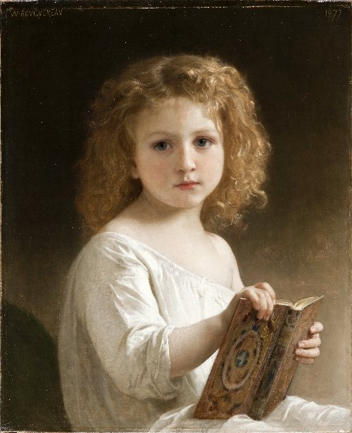 The Story Book | William-Adolphe Bouguereau | oil painting