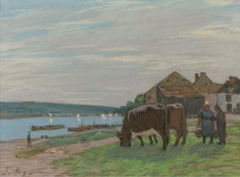 The Cows at Pasture 1897 | Alfred Sisley | oil painting