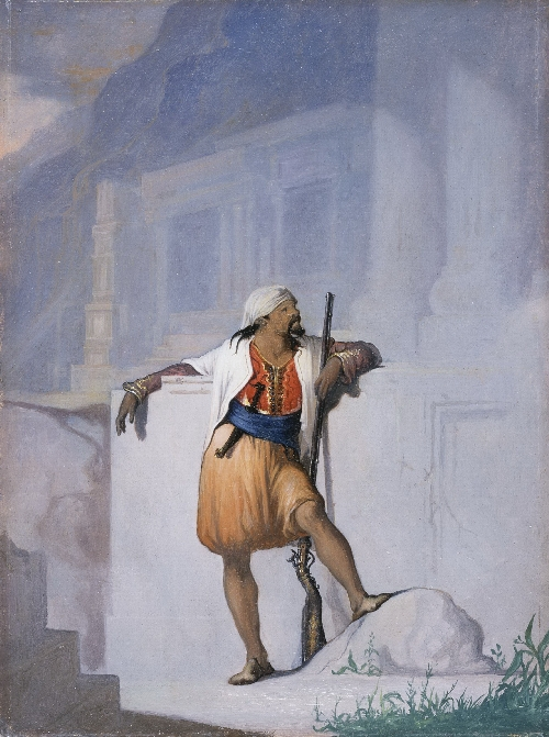 The Sentry | William Rimmer | oil painting