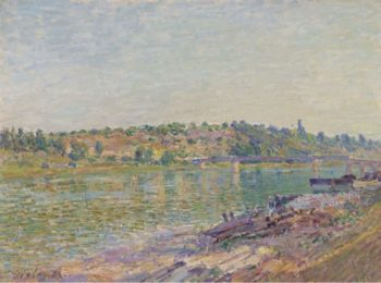 The Hill of Celle Sous Moret in Saint Mammes 1884 | Alfred Sisley | oil painting