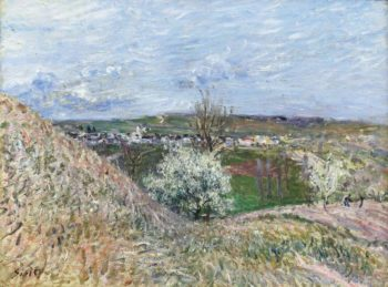 The Hills of Saint Mammes at Spring 1880 | Alfred Sisley | oil painting