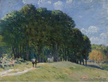 The Horseman by the Forest`s Edge 1875 | Alfred Sisley | oil painting