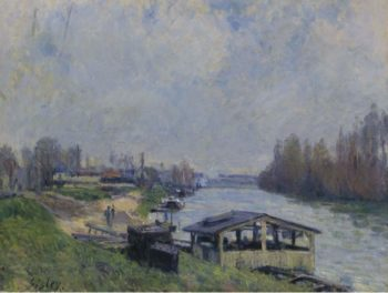 The Laundry at Billancourt 1879 | Alfred Sisley | oil painting