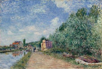 The Loing Channel Tow Path 1882 | Alfred Sisley | oil painting