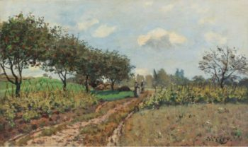 The Road at Campagne 1876 | Alfred Sisley | oil painting