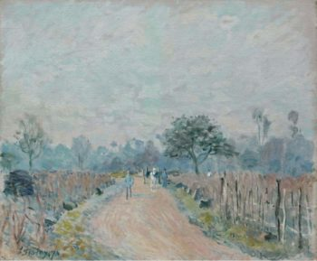 The Road of Prunay at Bougival 1874 | Alfred Sisley | oil painting
