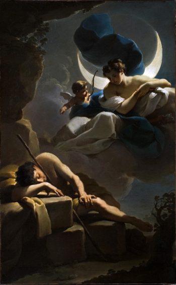Selene and Endymion | Ubaldo Gandolfi | oil painting