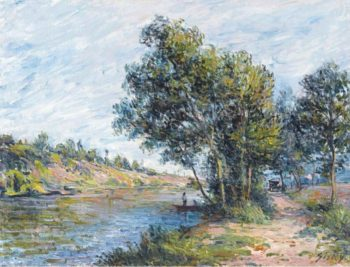 The Road to Veneux and the Side of the Hill 1881 | Alfred Sisley | oil painting