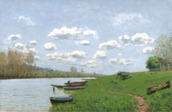 The Seine at Argenteuil 1870 | Alfred Sisley | oil painting