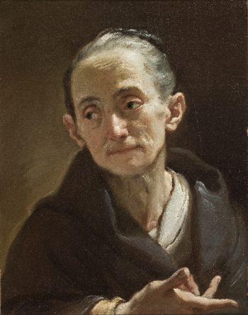 Head of an Old Woman | Ubaldo Gandolfi | oil painting