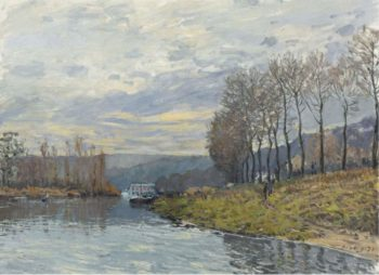 The Seine at Bougival 1873 | Alfred Sisley | oil painting