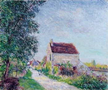 The Village of Sablons 1885 | Alfred Sisley | oil painting