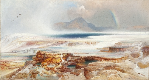 Hot Springs of the Yellowstone | Thomas Moran | oil painting