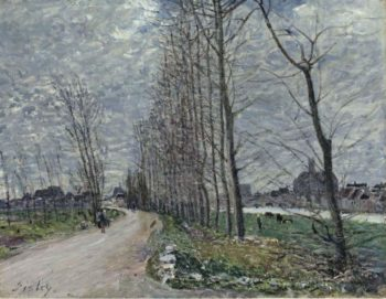 View of Moret sur Loing 1890 | Alfred Sisley | oil painting
