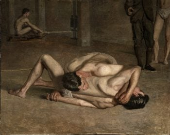 Wrestlers | Thomas Eakins | oil painting