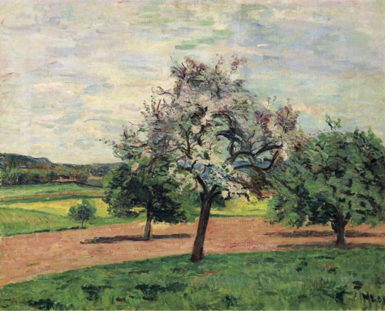 Apple Trees Blooming Ile de France 1887 | Armand Guillaumin | oil painting