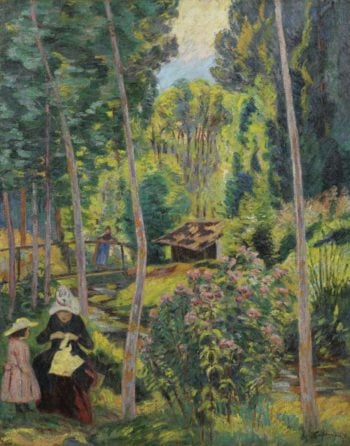 Banks of the Orge Madame Guillaumin and Her Daughter Madeleine 1891 | Armand Guillaumin | oil painting