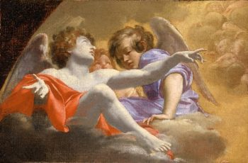 Model for Altarpiece in St. Peters2 | Simon Vouet | oil painting