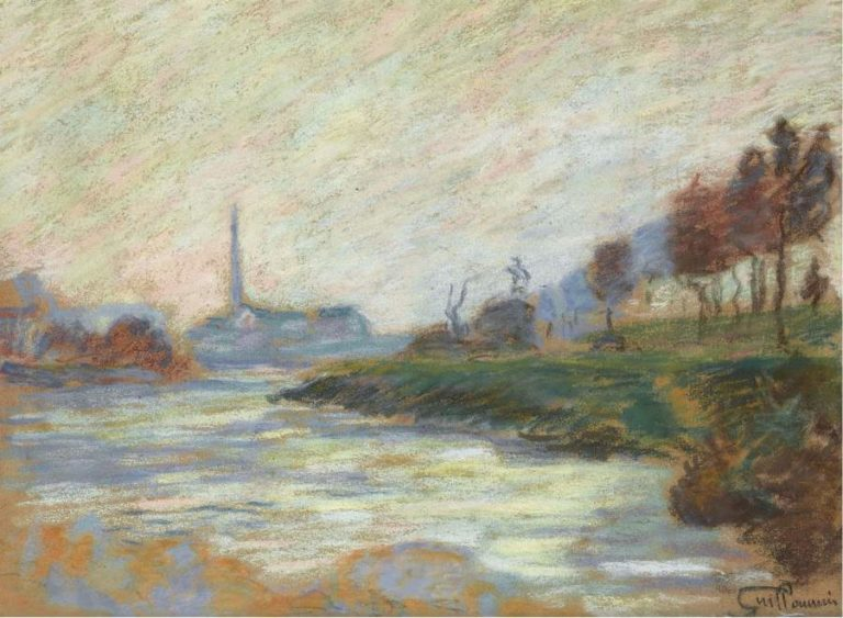 Confluence of the Marne and the Seine Ile de France 1885 | Armand Guillaumin | oil painting